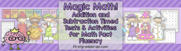 Magic Math! Timed Tests for Math Fact Fluency!