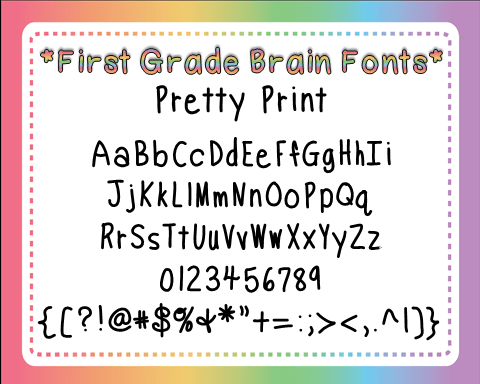 Pretty Print Font Preview
