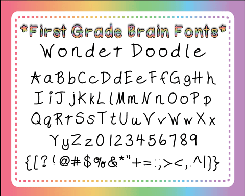 Wonder Doodle Font Preview