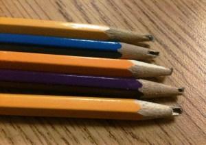 broken pencils