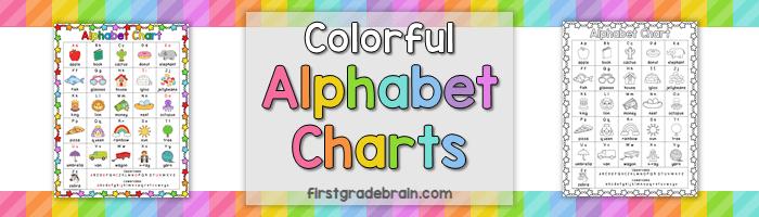 Colorful Alphabet Chart freebie