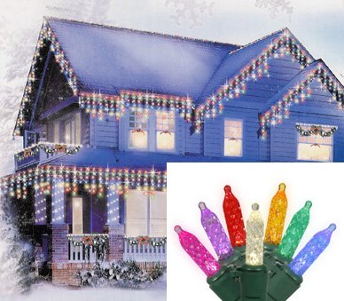 Multi-Colored LED Icicle Lights