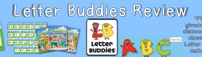 Letter Buddies Review and Contest from Hameray Publishing