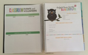 Classroom Events, Volunteers, Substitute Information