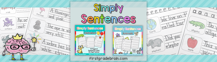 Simply Sentences – No Prep Sentence Writing Practice