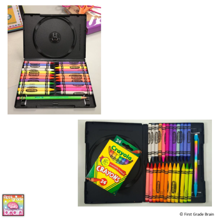 DVD Case Crayon Box
