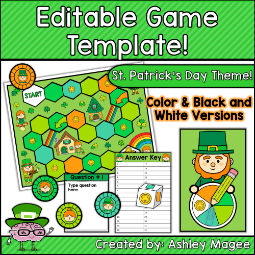 Editable Game Template - St. Patrick's Day