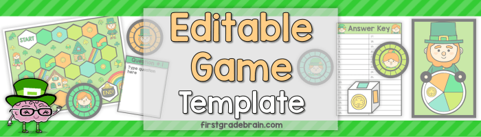 Editable Game Template – St. Patrick's Day Theme