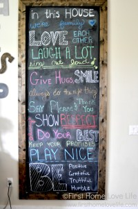 How to Make Your Own Chalkboard Framed Art - First Home ...