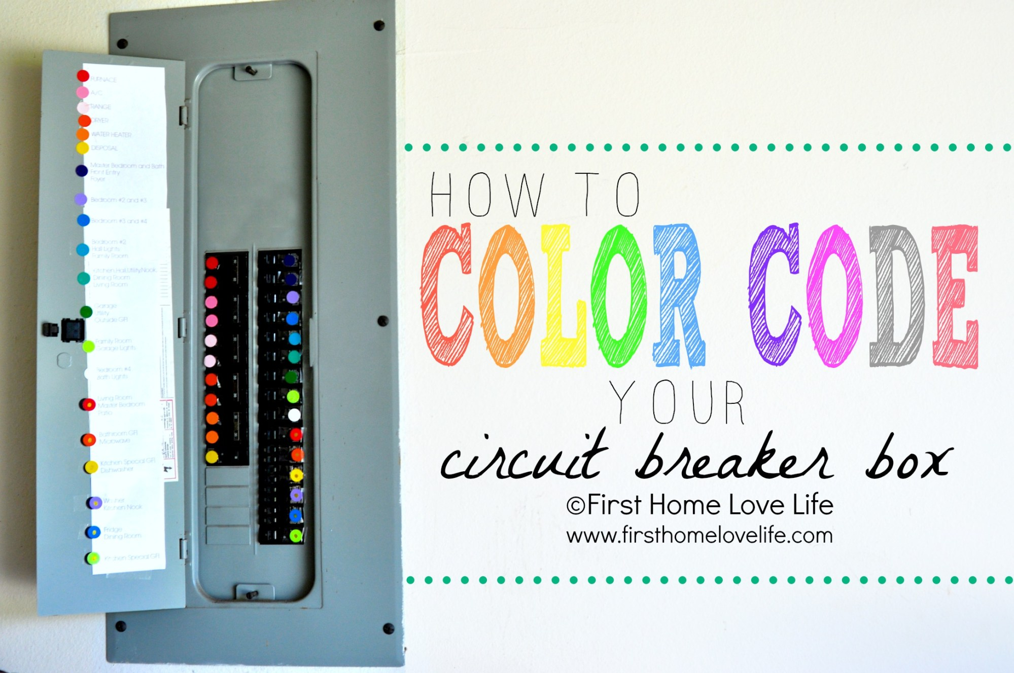 hight resolution of home fuse box colors wiring diagrams mon color coding your circuit breaker box first home love
