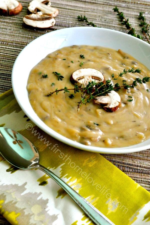 Creamy Crockpot Wild Mushroom Soup First Home Love Life