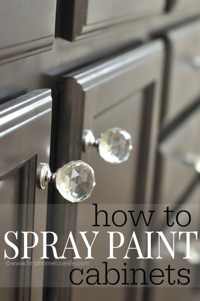 Can You Spray Paint Cabinets  First Home Love Life
