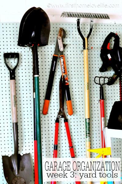Garage Organization Yard Tools First Home Love Life