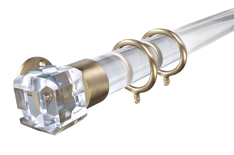 Lucite Curtain Amp Drapery Rods Brackets Amp Rings First Impressions