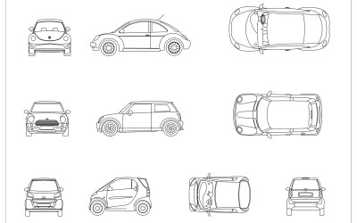 Free CAD Blocks – Cars 02