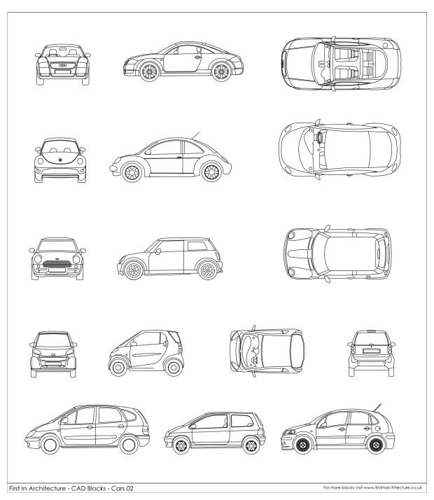 FIA Car CAD Blocks 02