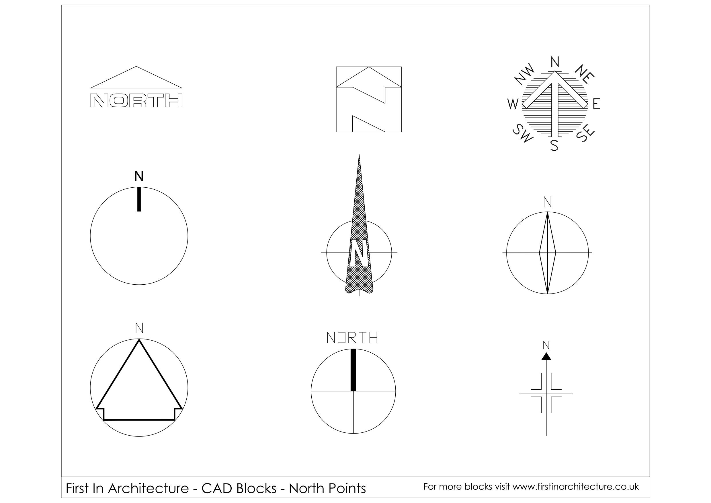 Cad Blocks North Point 01