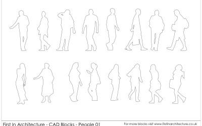 Free CAD Blocks – People 01