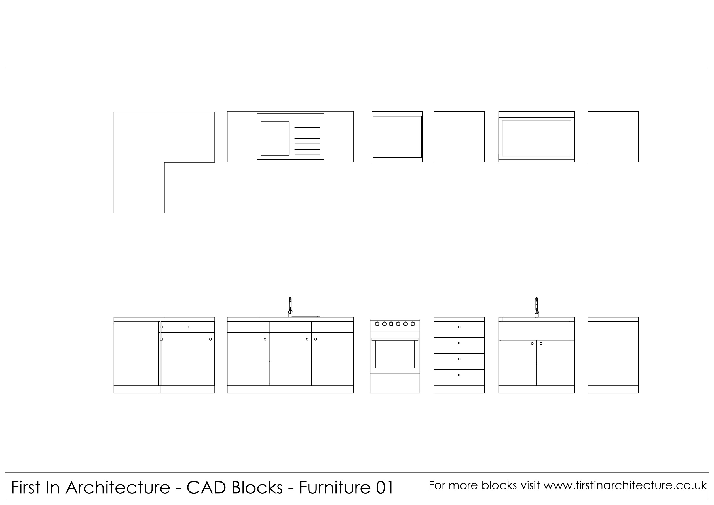 Kitchen Cad Kemistorbitalshowco - Bathroom cad blocks