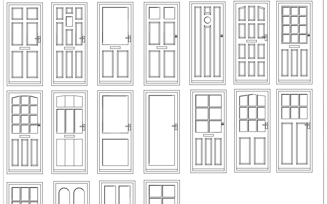 Free CAD Blocks – Door Elevations 01