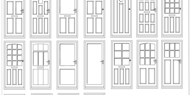 Front Elevation Door Design : Free cad blocks door elevations