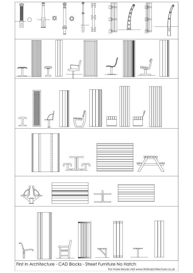FIA CAD Blocks Street Furniture