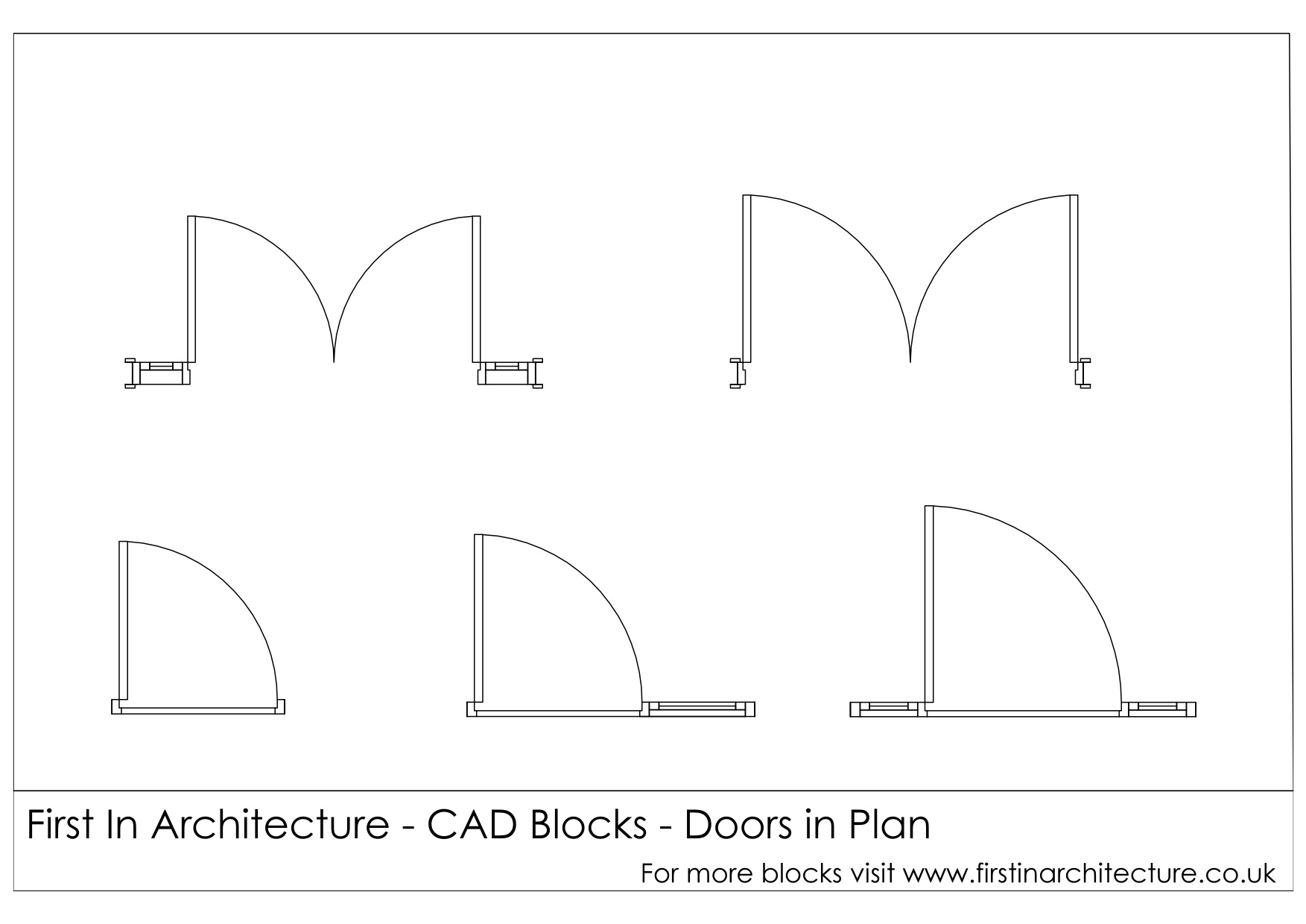 sc 1 st  First In Architecture & Free CAD Blocks - Door ElevationsPlans