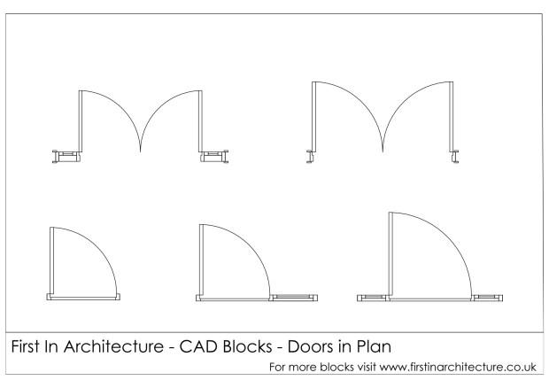 FIA Door Plan CAD Blocks 02
