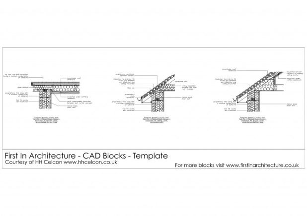 FIA CAD Blocks Roof Details H + H