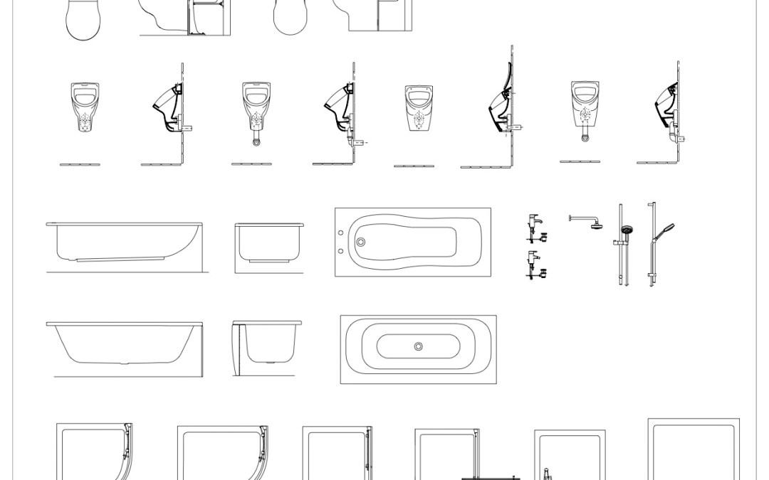 Free CAD Blocks – Bathroom Detail Mega Pack