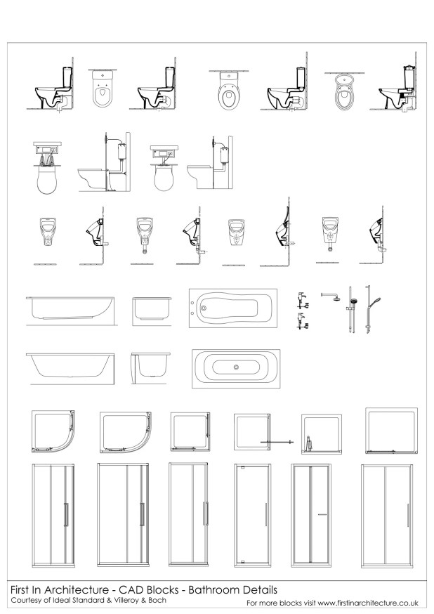 Bathroom Details Cad Blocks