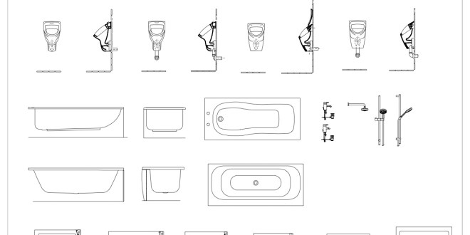 Free Cad Blocks Bathroom Details First In Architecture