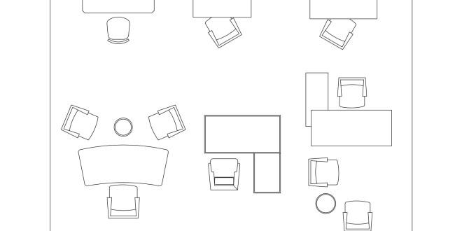 Free CAD Blocks - Furniture (Office Desks)