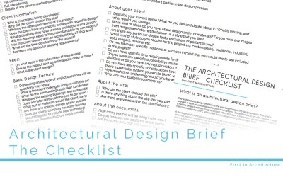 The Architectural Design Brief – Checklist