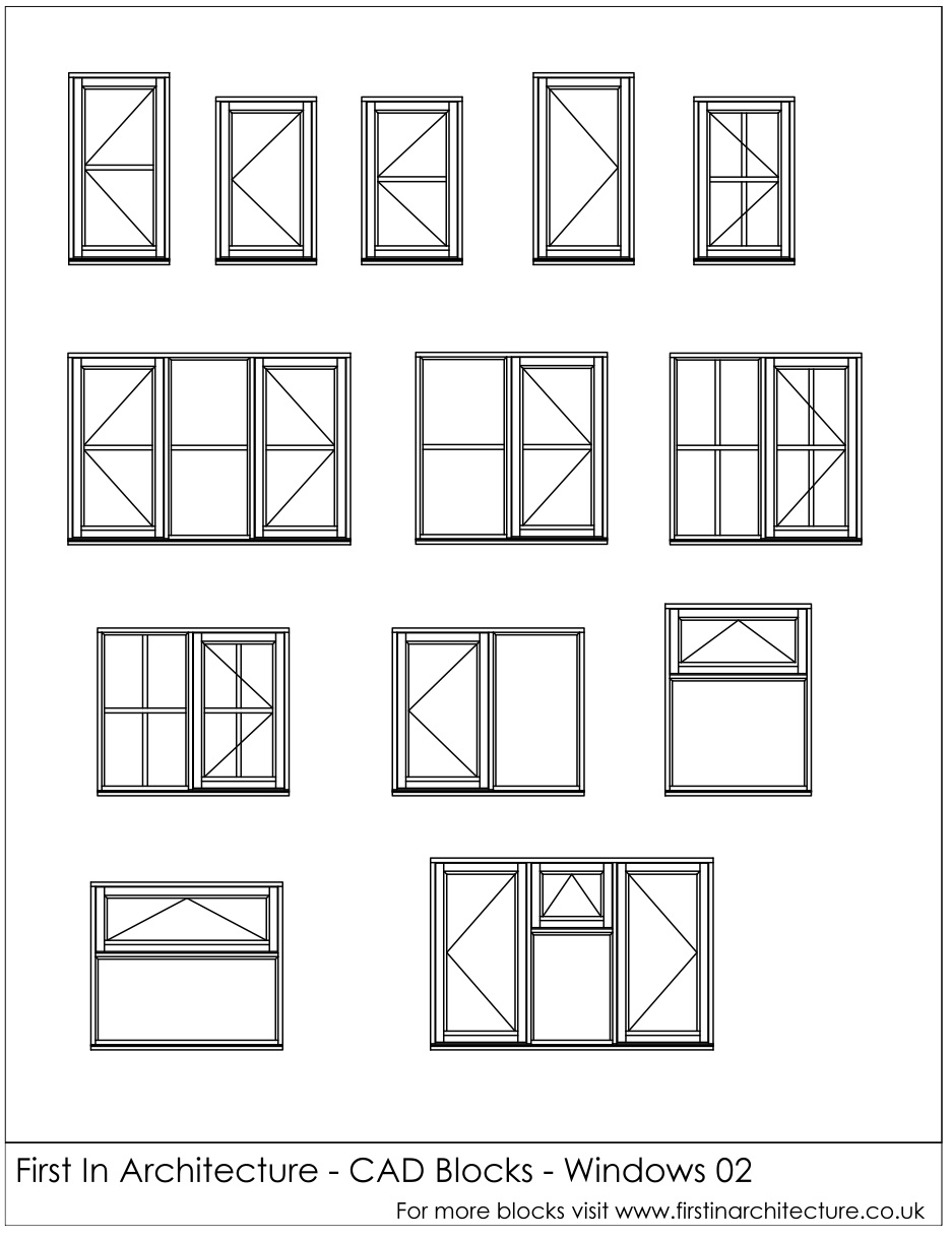 Free Cad Blocks Window Elevations
