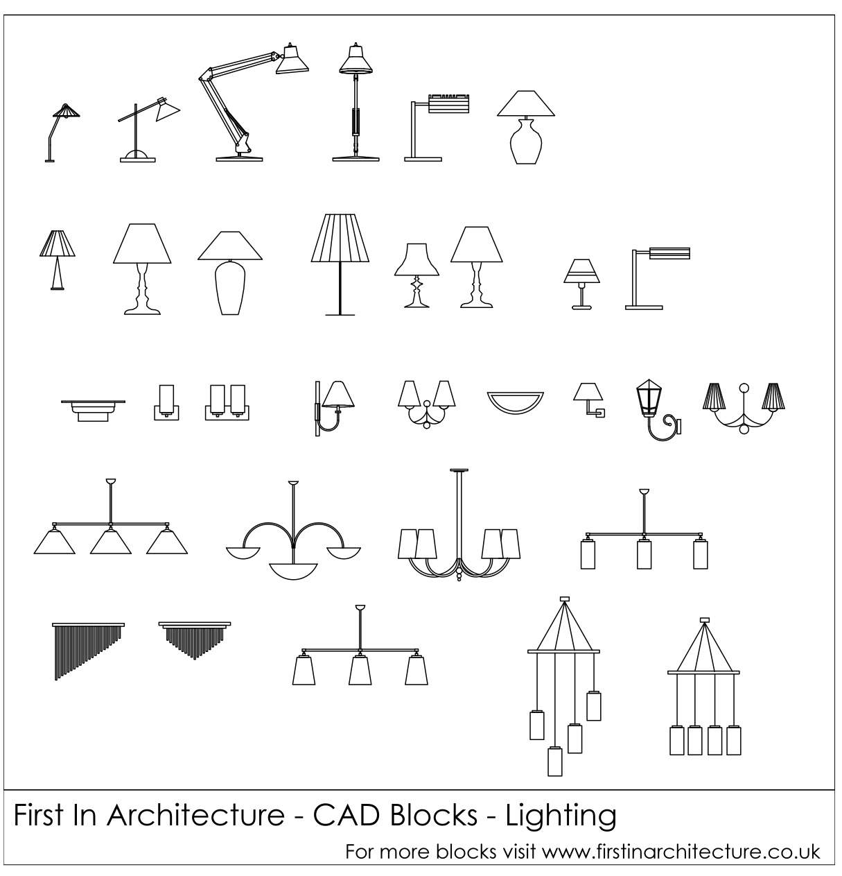 free cad blocks lighting rh firstinarchitecture co uk