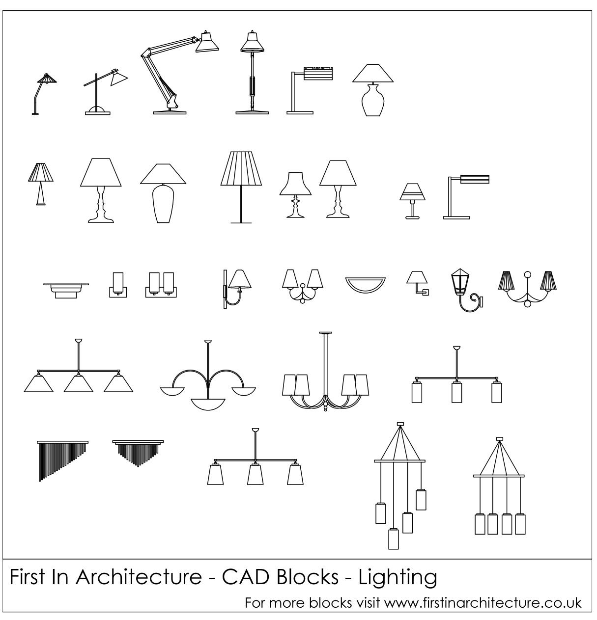 Lighting cad blocks