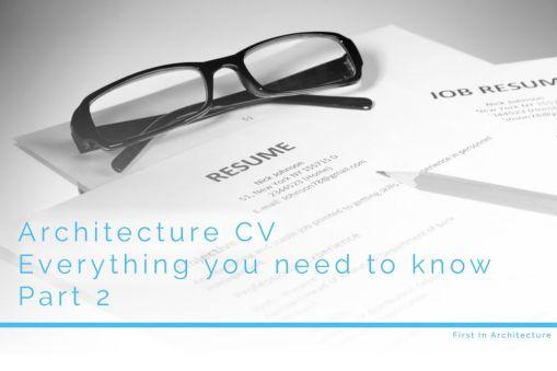 Architecture CV-Part 2