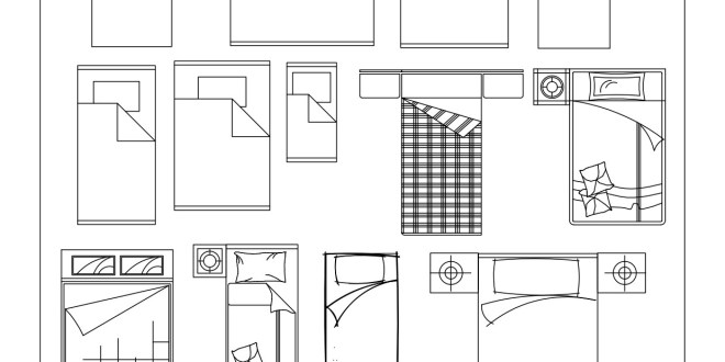 Free Cad Blocks Beds And Wardrobes