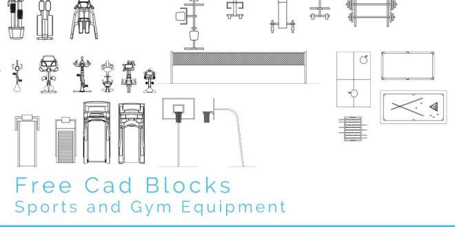 Free Cad Blocks Sport And Gym