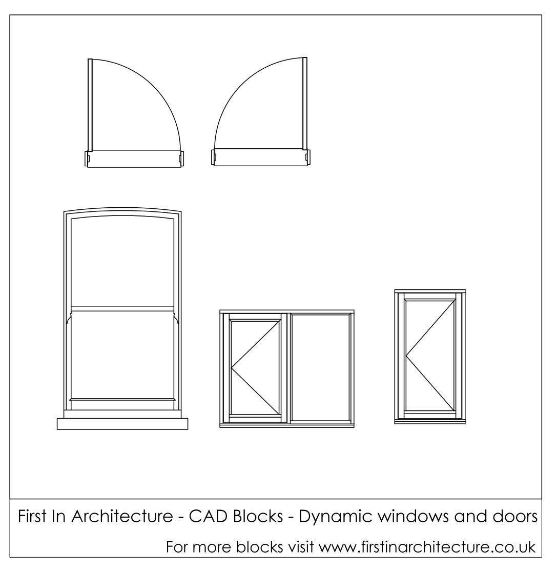 Free Cad Blocks Dynamic Window And Doors