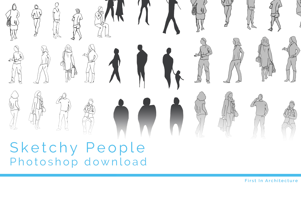 architecture people. Sketchy People Psd Download Architecture T