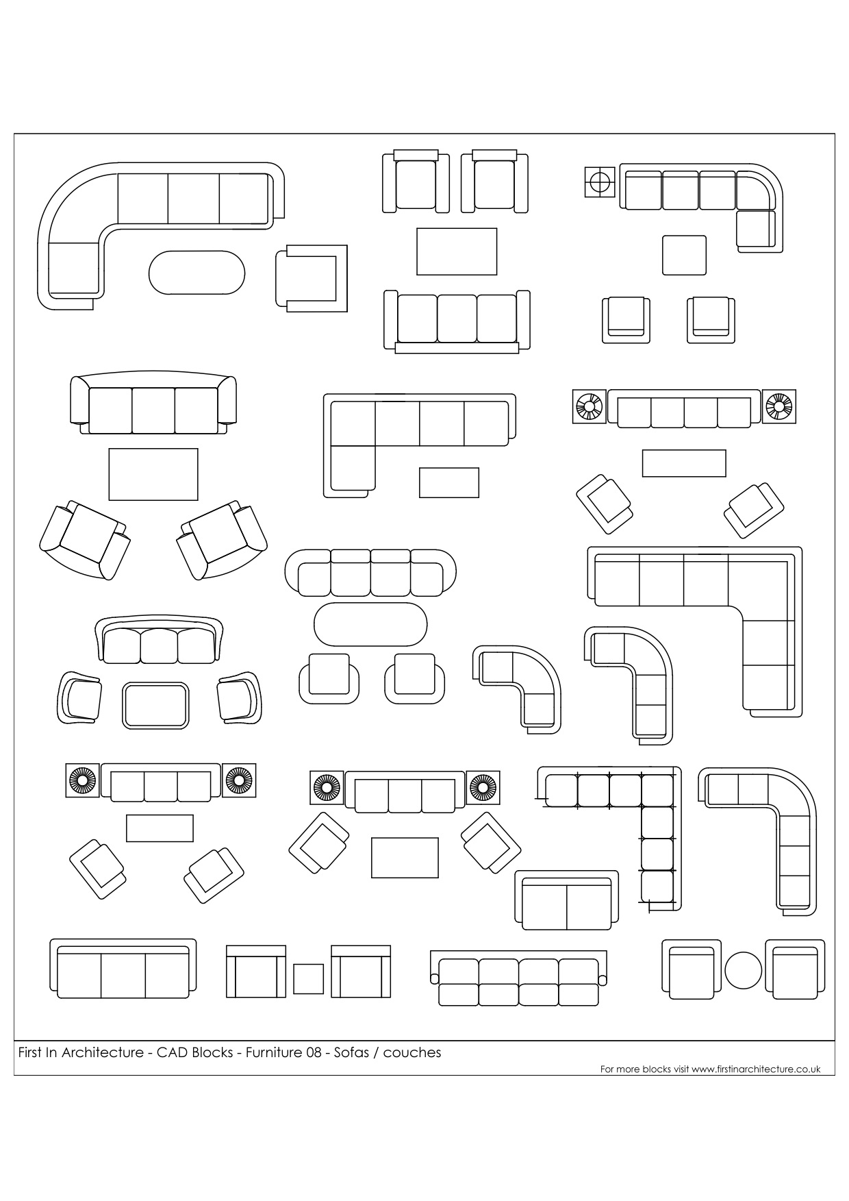 living room couch and loveseat layout country rooms uk free cad blocks - sofas couches