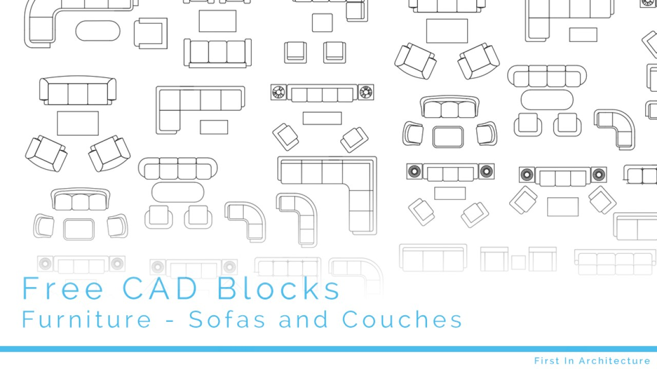 Free CAD Blocks – Sofas and Couches