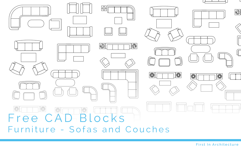 Picture of: Free Cad Blocks Sofas And Couches