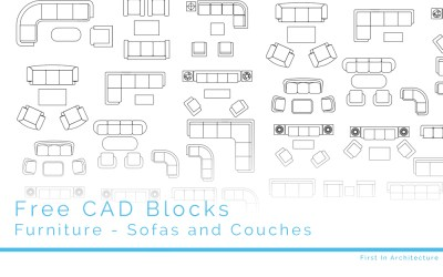 Free CAD Blocks – Furniture 08 – Sofas & Couches