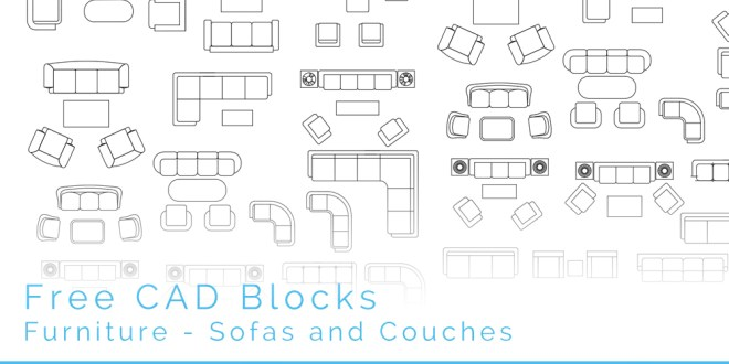 Free CAD Blocks Sofas and Couches