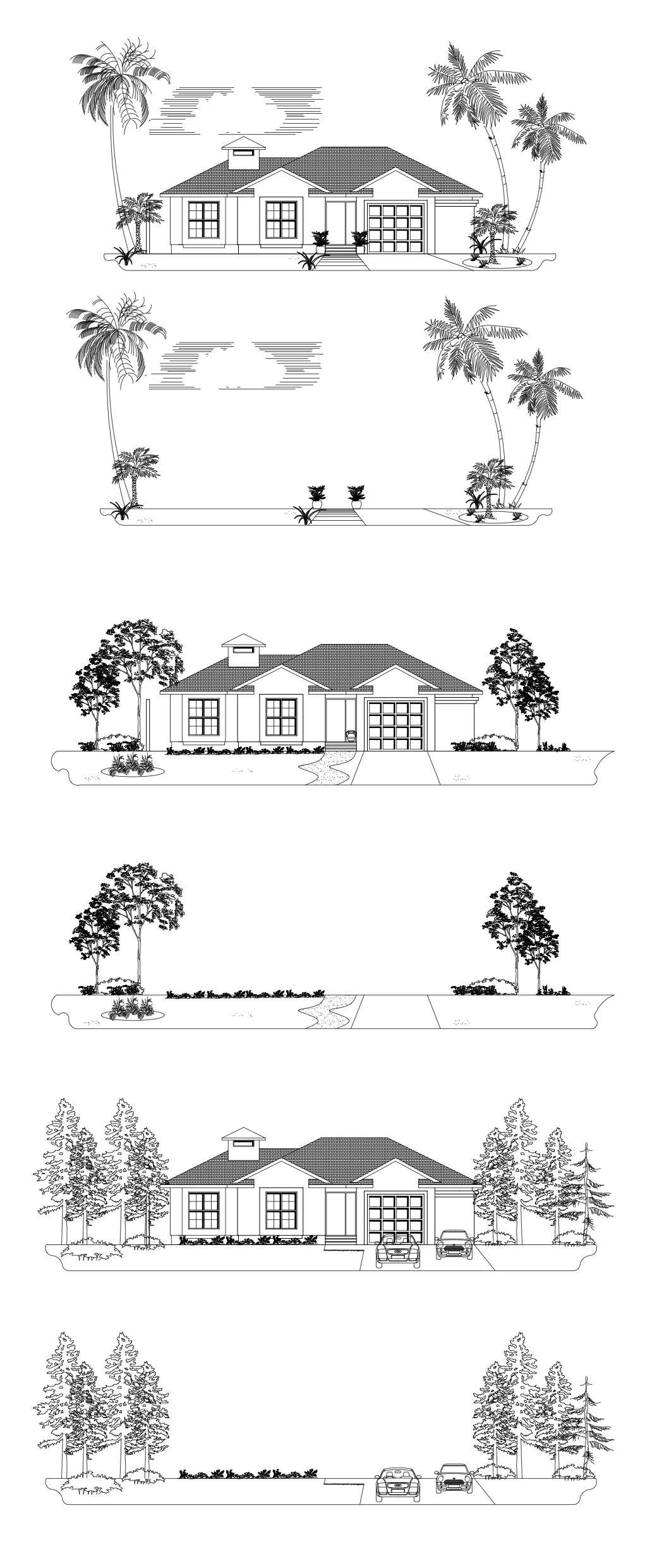 cad block elevations