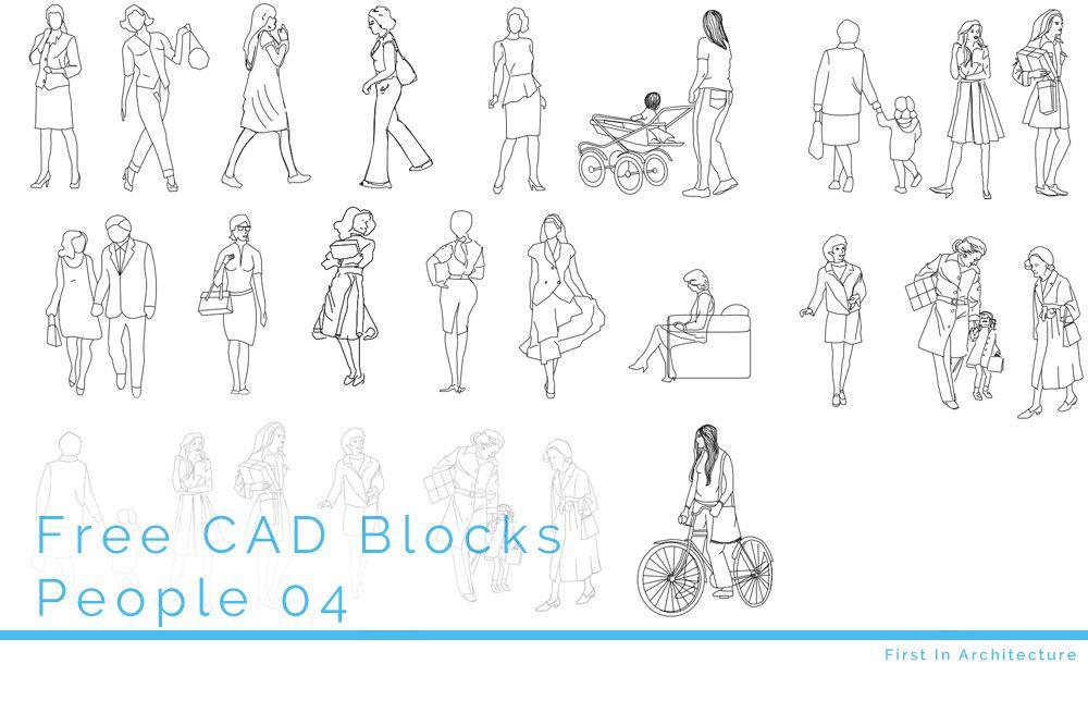 free autocad blocks people in elevation
