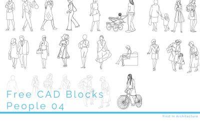 Free CAD Blocks – People 04
